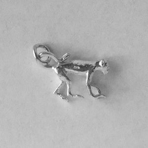 Sterling silver monkey charm animal pendant side