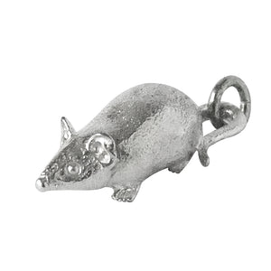 Mouse Charm Sterling Silver or Gold Animal Pendant