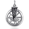 Mouse in Wheel Moving Charm Pendant | Silver Star Charms