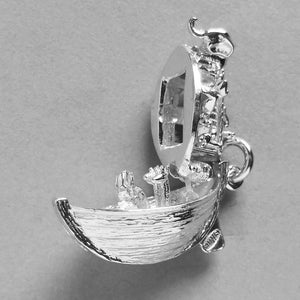 Opening Noah's Ark Charm Sterling Silver or Gold Pendant | Silver Star Charms