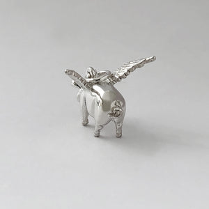 Pigs might Fly Charm Sterling Silver or Gold | Charmarama