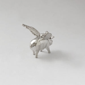 Pigs Will Fly Charm Sterling Silver or Gold