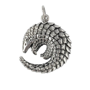 Sterling silver pangolin charm from Charmarama