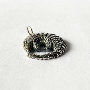 Sterling silver pangolin pendant from Charmarama Charms