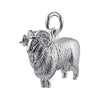 Merino Ram Sterling Silver Charm Aries Sheep Pendant