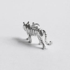 Tiger Big Cat Charm Sterling Silver Animal pendant