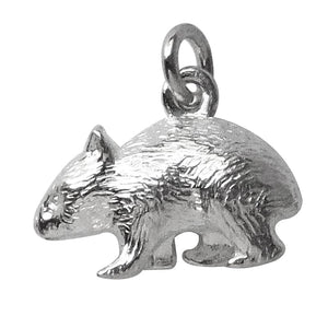 Wombat charm sterling silver or gold pendant