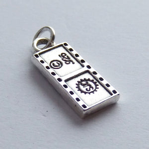Sterling Silver Camera Film Strip Charm Reverse