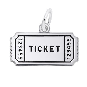 Sport Ticket Charm Sterling Silver Pendant