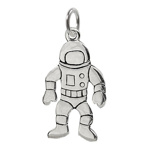 Astronaut Charm Sterling Silver Moon Landing Pendant