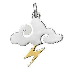 Cloud Charm with Lightning Bolt