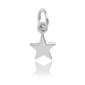 Tiny Sterling Silver Five Point Star Charm
