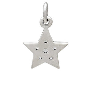 Sterling Silver Crystal Set Star Reverse