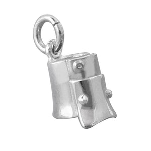 Ned Kelly Helmet Charm Small Sterling Silver or Gold Pendant
