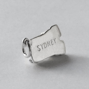 Sydney Opera House charm sterling silver or gold pendant