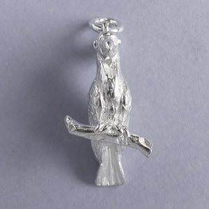 Sulphur Crested Cockatoo Charm Sterling Silver Front