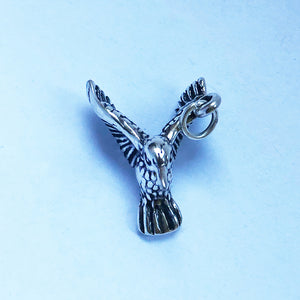 Sterling silver humming bird charm