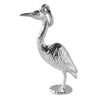 Heron charm sterling silver or gold water bird pendant