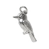 Kookaburra bird charm sterling silver or gold pendant