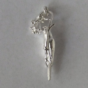 Lorikeet bird charm sterling silver or gold parrot pendant