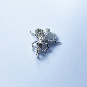 Honey Bee Charm Sterling Silver or Gold Apiary Pendant