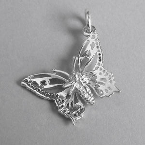 Butterfly Charm Sterling Silver or Gold Insect Pendant