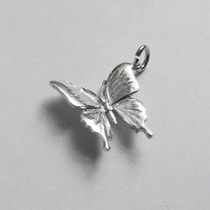 Ulysses Butterfly Charm Sterling Silver Pendant Side