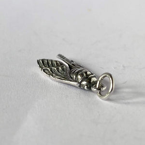 Sterling silver cicada charm Charmarama insect pendant