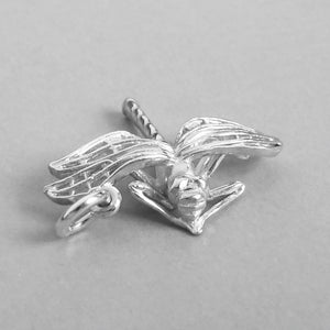 Sterling Silver Dragonfly Charm Front