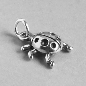 Ladybug Charm Sterling Silver Insect Pendant