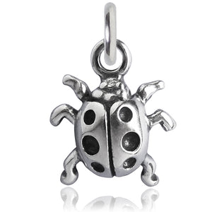 Ladybird Charm Sterling Silver Insect Pendant