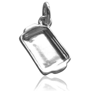 Sterling silver baking tray charm