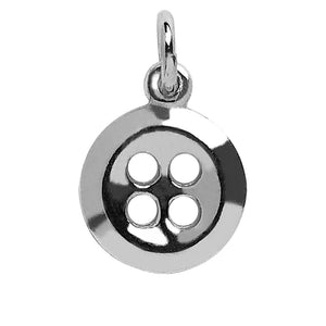 Sterling silver shirt button charm