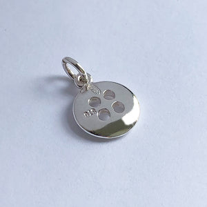 Button Charm Pendant Sterling silver or gold