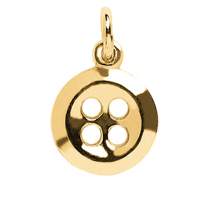 9ct Yellow Gold Button Charm