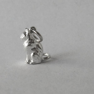 Cat charm sterling silver or gold pendant