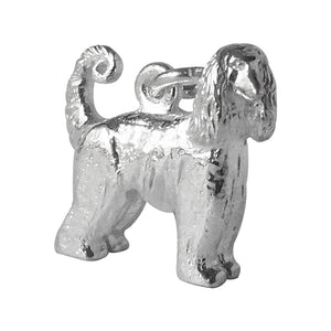 Afghan Hound dog charm sterling silver or gold animal pendant