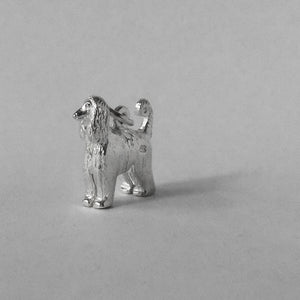 Afghan Hound charm sterling silver or gold dog breed pendant