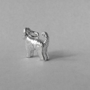 Afghan Hound charm sterling silver or gold dog pendant