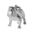 Bulldog Charm Sterling Silver or Gold Dog Pendant
