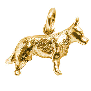 Gold Blue Heeler Australian Cattle Dog Charm