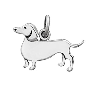 Sausage Dog Charm Sterling Silver