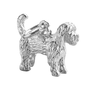 Labradoodle Dog Charm Sterling Silver Pendant
