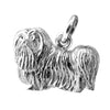 Maltese Terrier charm sterling silver or gold dog pendant