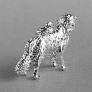 Pet Golden retriever charm sterling silver dog pendant