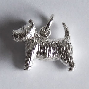 Sterling silver Scottish Highland Terrier Charm