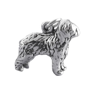 Old English Sheepdog Charm Sterling Silver
