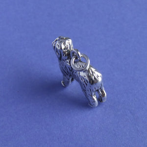 Old English Sheepdog Charm Sterling Silver Top