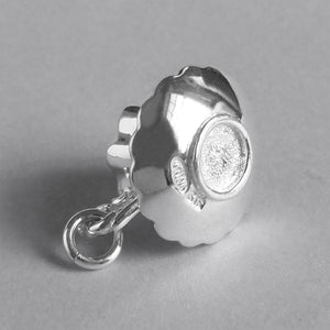 Tea Cup Charm Sterling Silver or Gold Bottom
