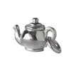 Small teapot charm sterling silver or gold pendant